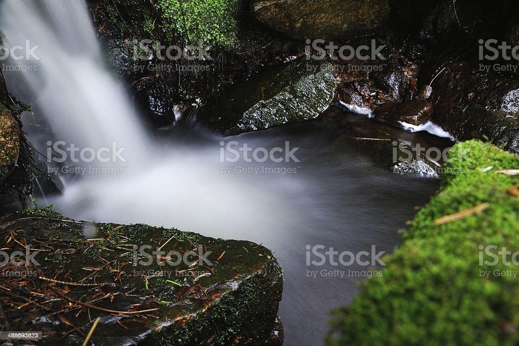 Blurred waterfall stream stock photo