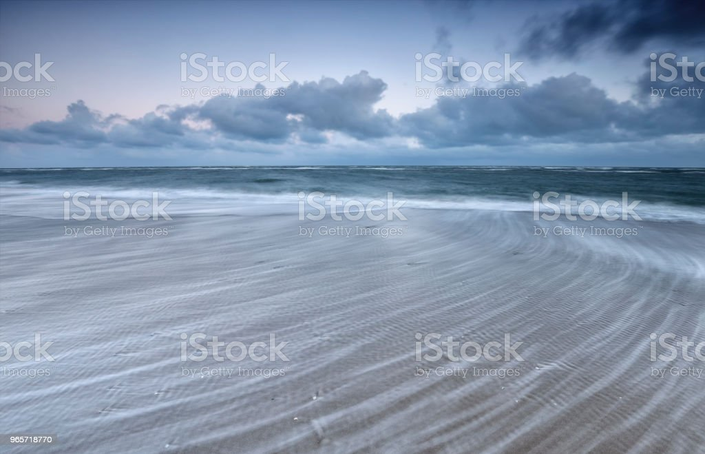blurred wave motion on North sea, Netherlands - Royalty-free Abstract Stock Photo