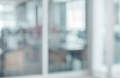 istock Blurred white abstract glass wall from modern building 1174638968