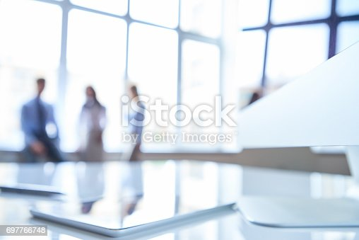 istock Blurred workplace 697766748