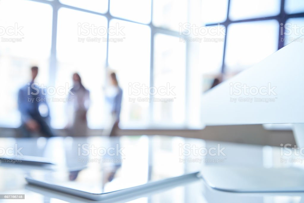 Blurred workplace stock photo
