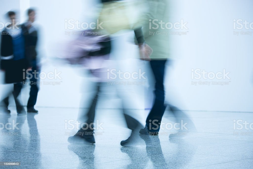 Blurred Young Travellers royalty-free stock photo