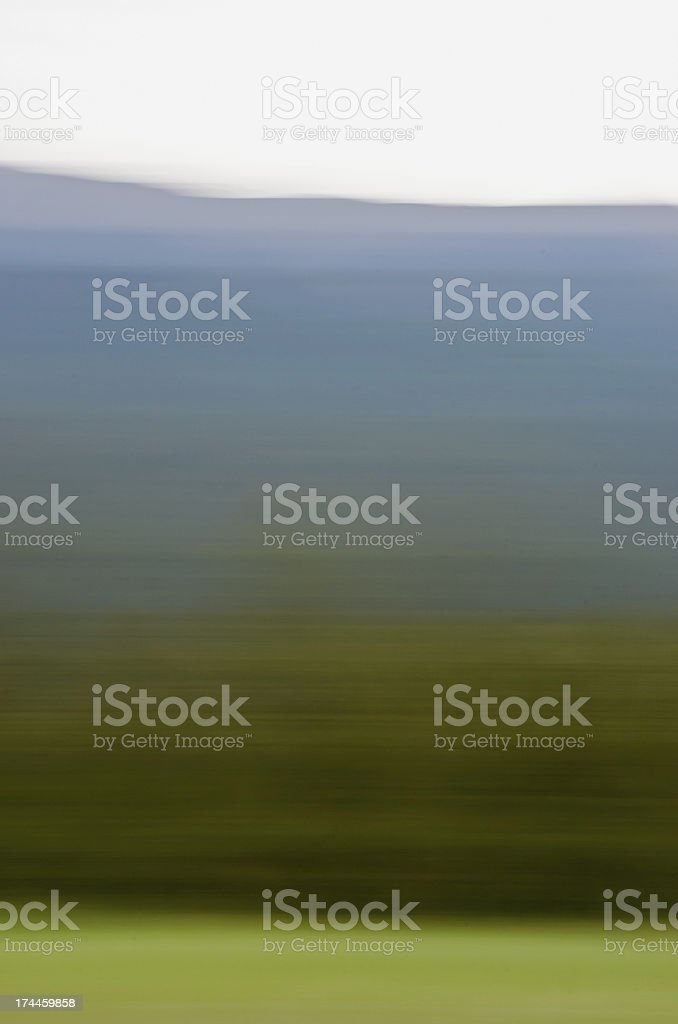 Blurring the Mountain Landscape royalty-free stock photo