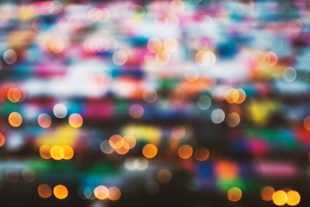 Blurry background of night market. Abstract and Decoration lighting concept. Christmas and New year theme. Blurry background of night market. Abstract and Decoration lighting concept. Christmas and New year theme. night market stock pictures, royalty-free photos & images