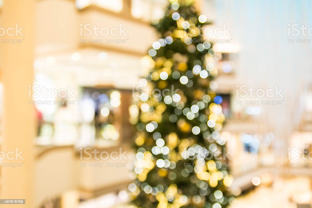 Blurry Christmas decoration stock photo