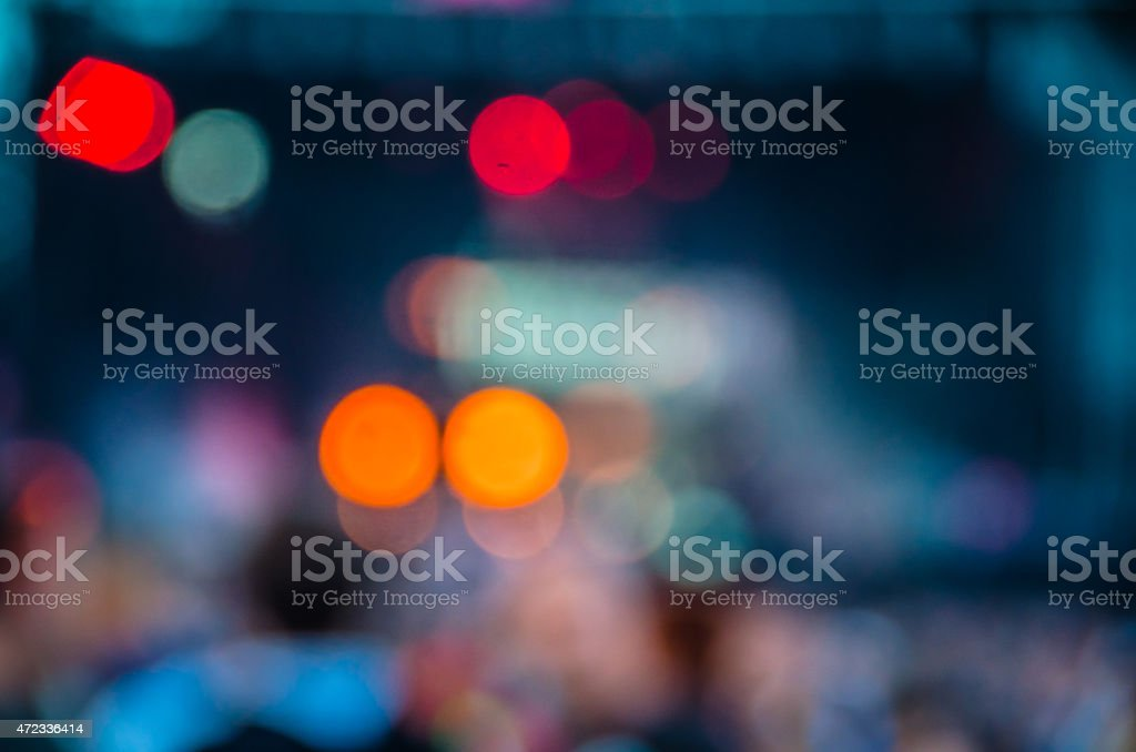 Blurry Concert Photo stock photo