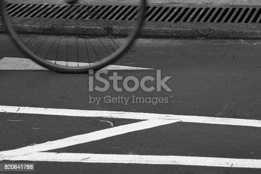 812812808 istock photo Blurry cyclist silhouette and shadow 820641788