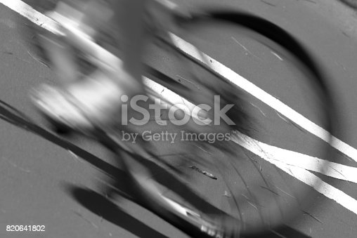 812812808 istock photo Blurry cyclist silhouette and shadow 820641802