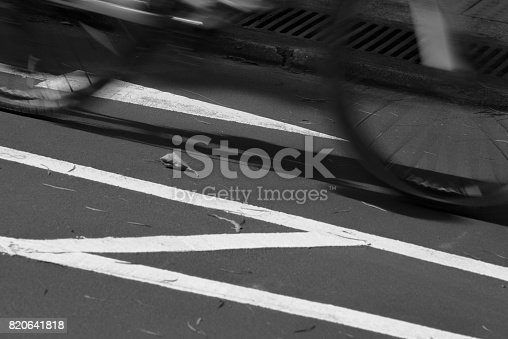 812812808 istock photo Blurry cyclist silhouette and shadow 820641818