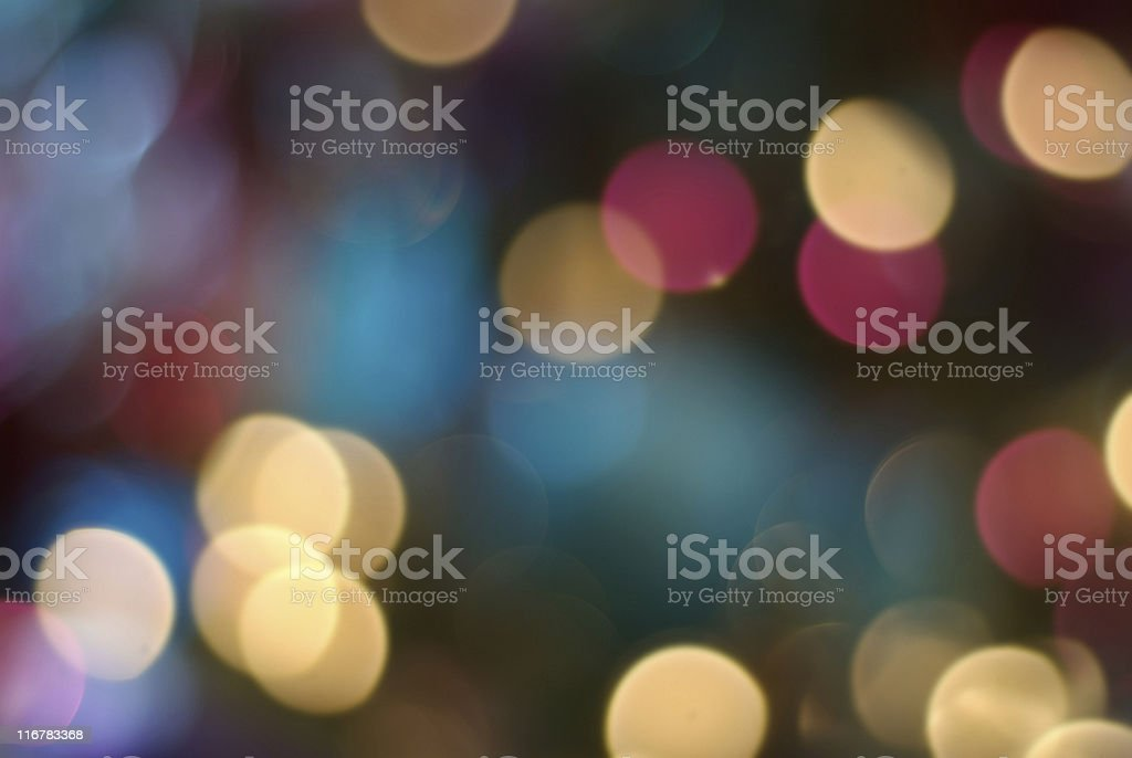 Blurry image of variously colored fairy lights royalty-free stock photo
