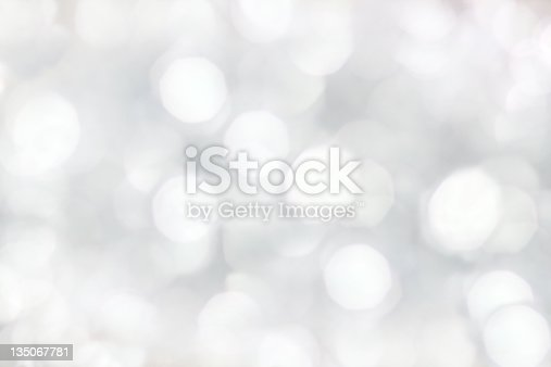 istock Blurry lights isolated on white background 135067781