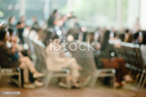 istock Blurry of auditorium for shareholders' meeting or seminar event 1152411225