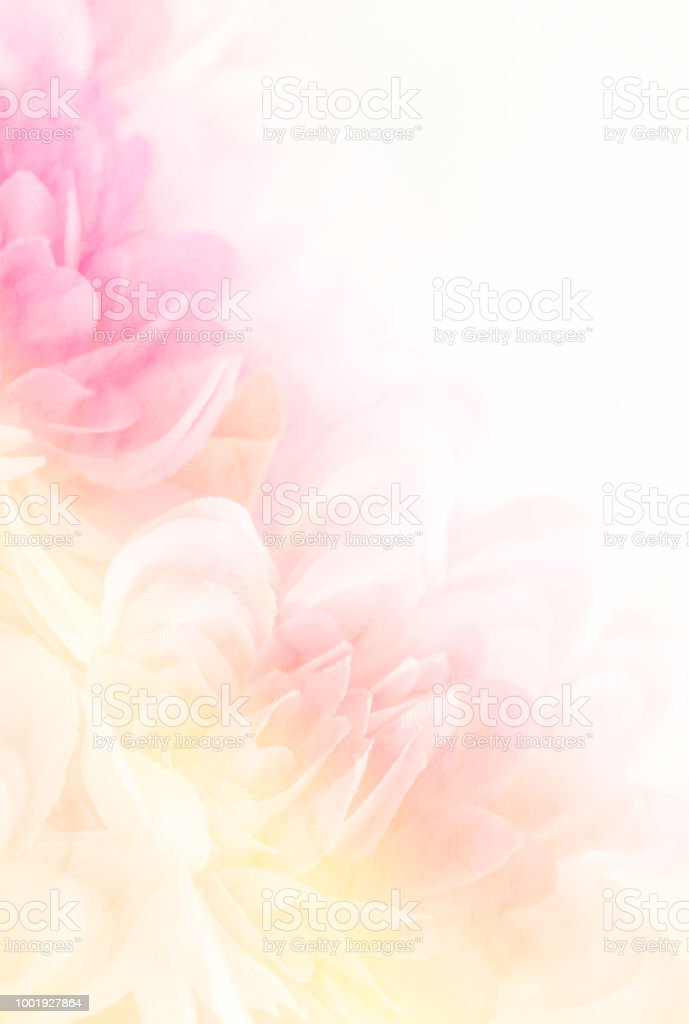 Blurry of flower on mulberry paper with copy space for backgorund. stock photo