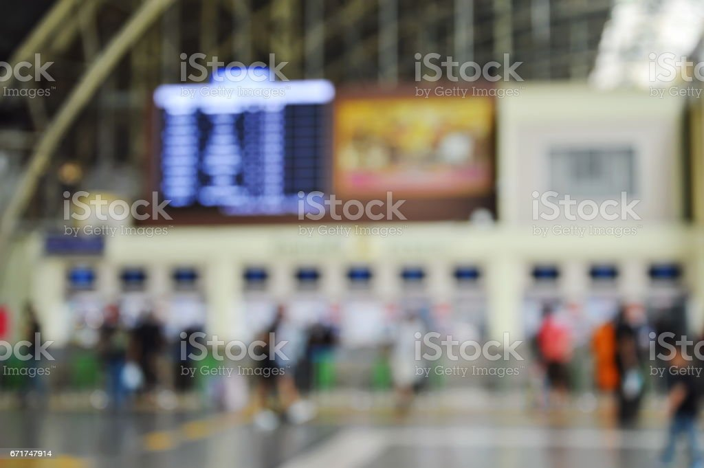 floue de compteur dans la gare de billetterie - Photo