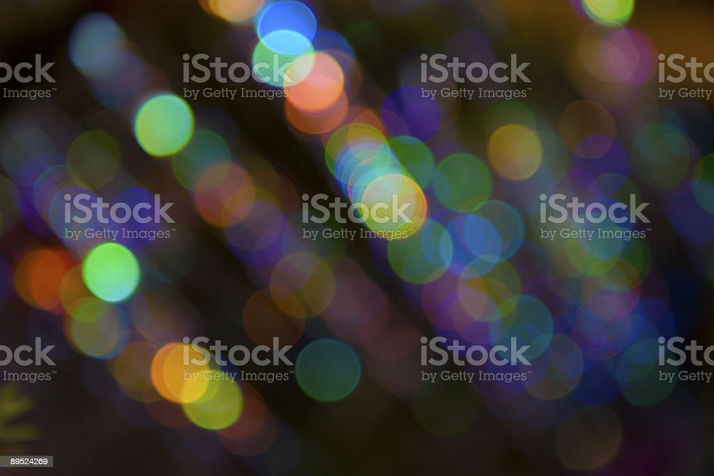 Blurry pattern of colorful decoration lights stock photo