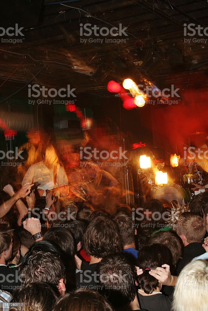 Blurry Photo of a Rock Show royalty-free stock photo