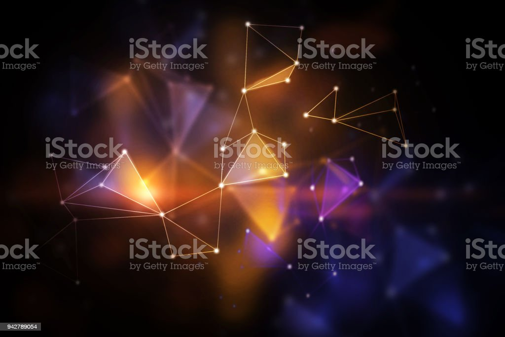 Blurry polygonal backdrop stock photo