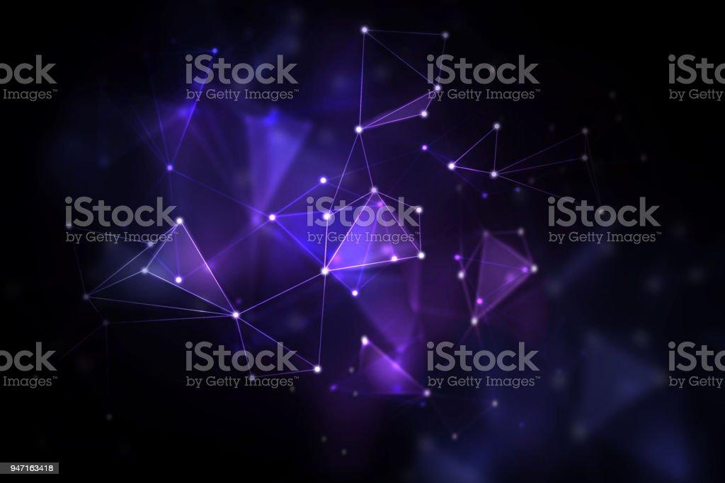 Blurry polygonal background stock photo