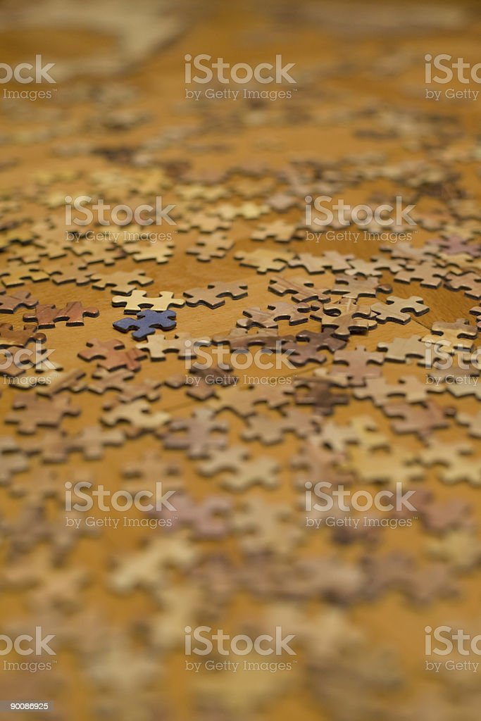 Blurry puzzle stock photo
