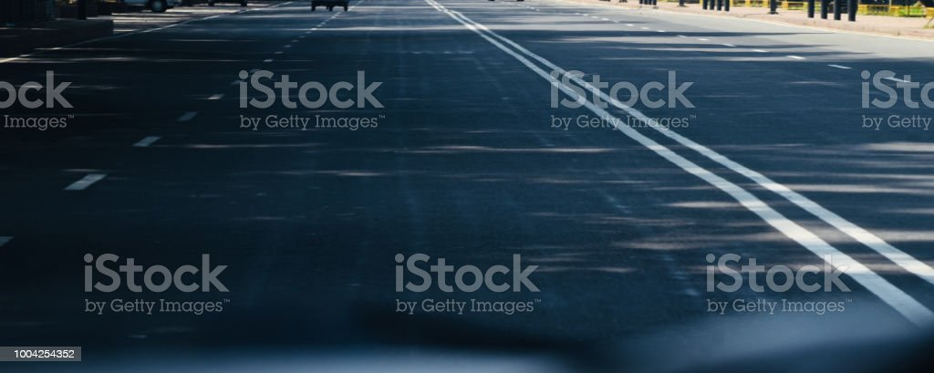 A blurry streets view in the afternoon isolated unique photo stock photo