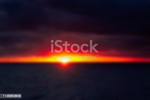 istock Blurry sunset in the Baltic Sea 1146953849