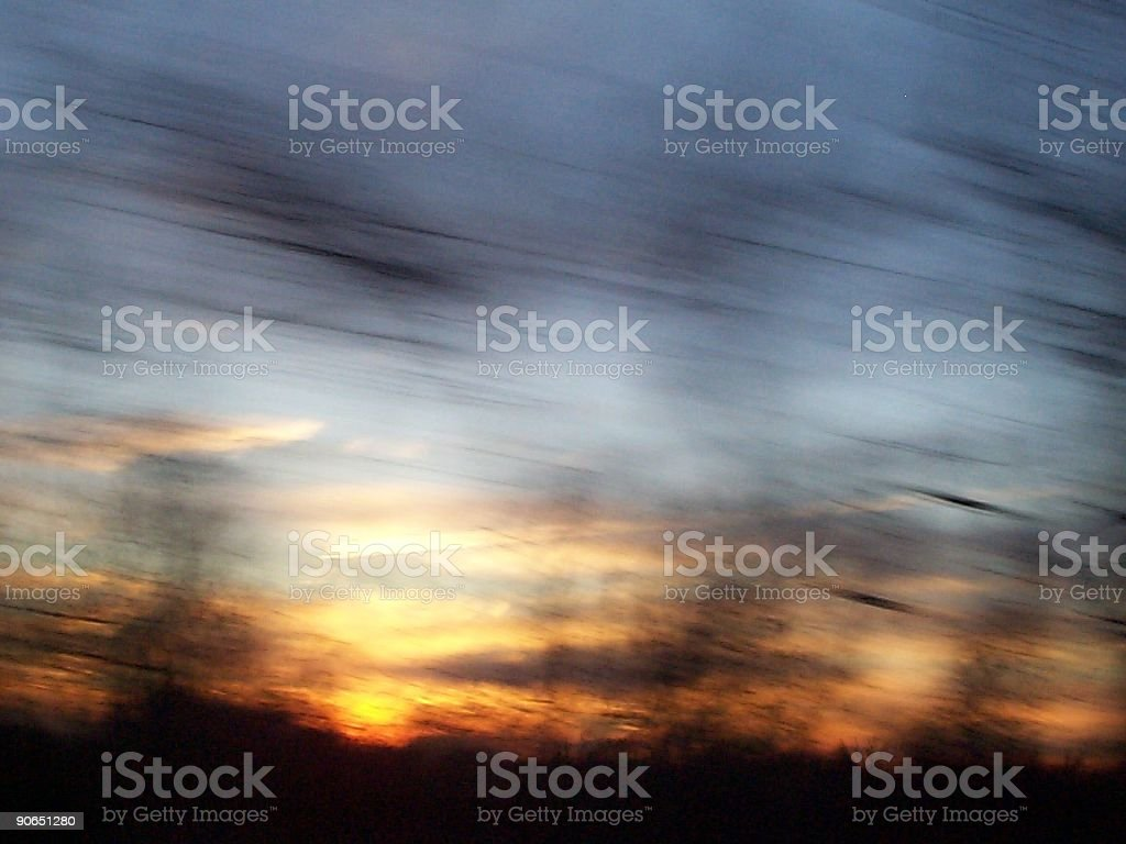 Blurry Sunset royalty-free stock photo