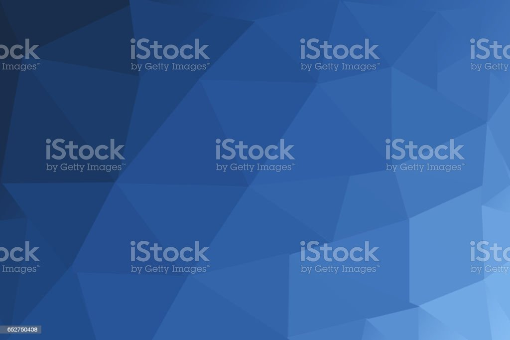 DARK BLUE blurry triangle polygon background stock photo