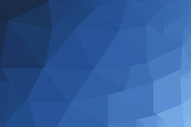 진한 파란색 모호한 삼각형 다각형 배경 스톡 사진
