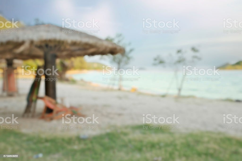Blurry tropical sea background royalty-free stock photo