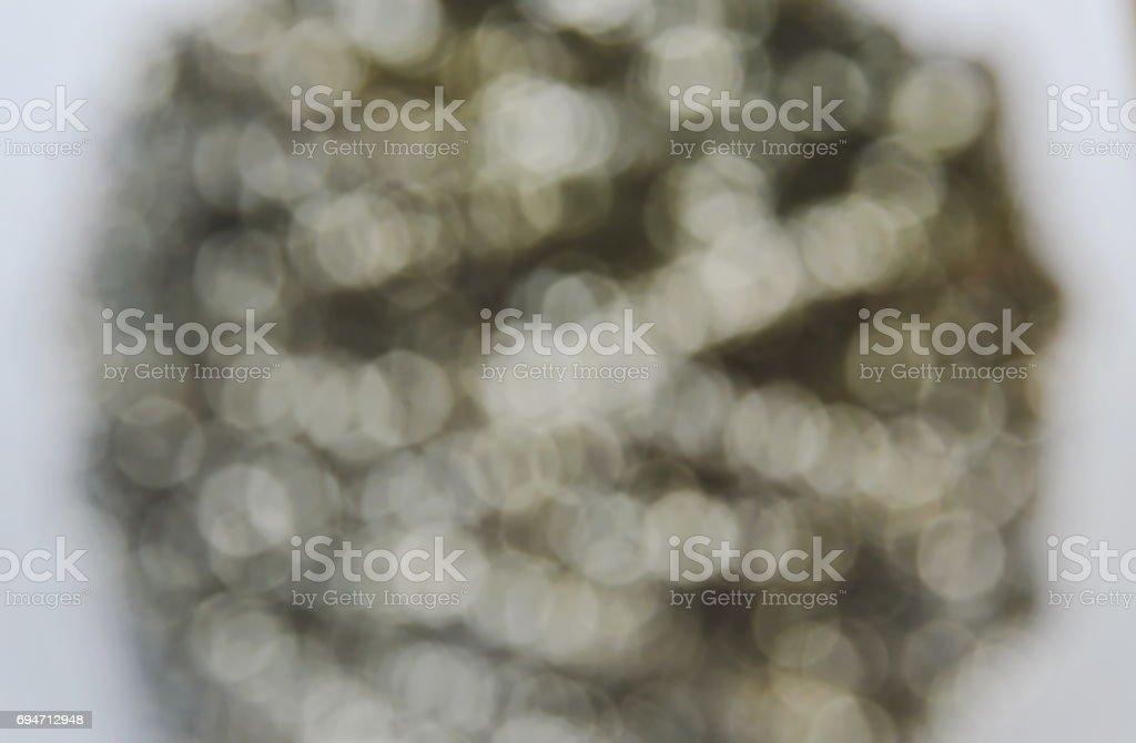 blurry white circle dot background stock photo
