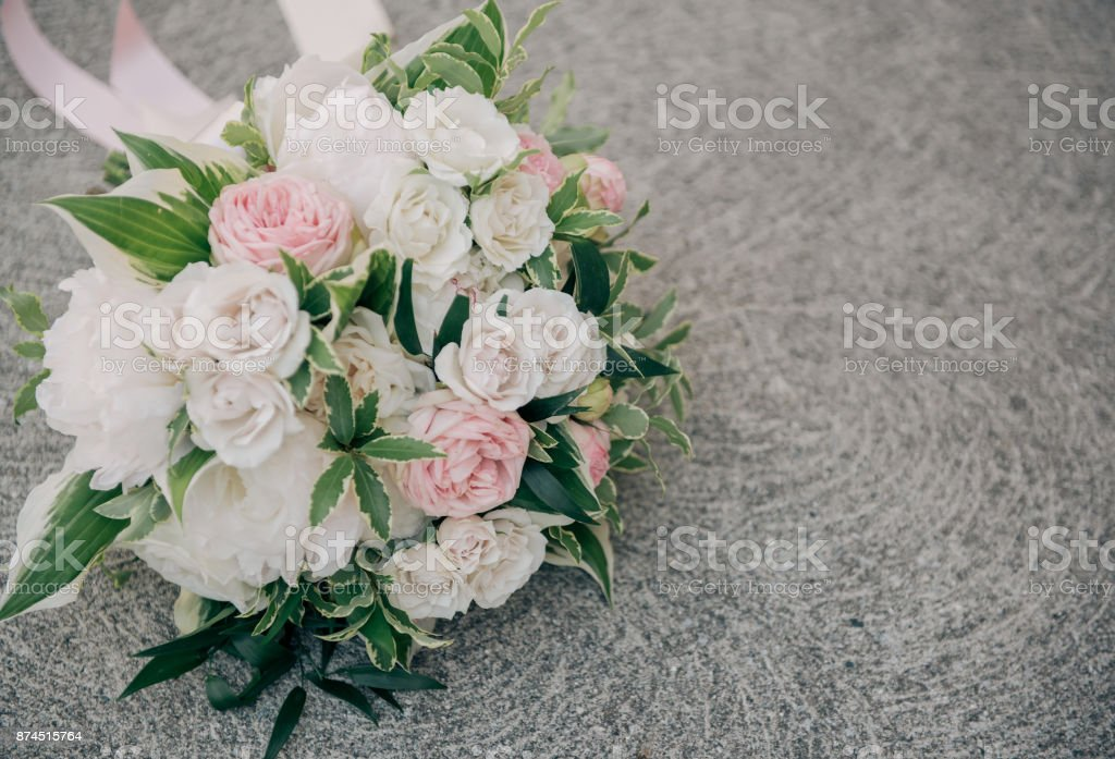 Blush And White Wedding Bouquet Stock Photo More Pictures Of