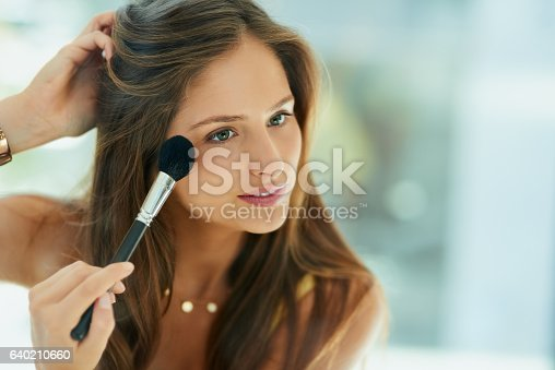 istock Blush brings out the best in her cheekbones 640210660