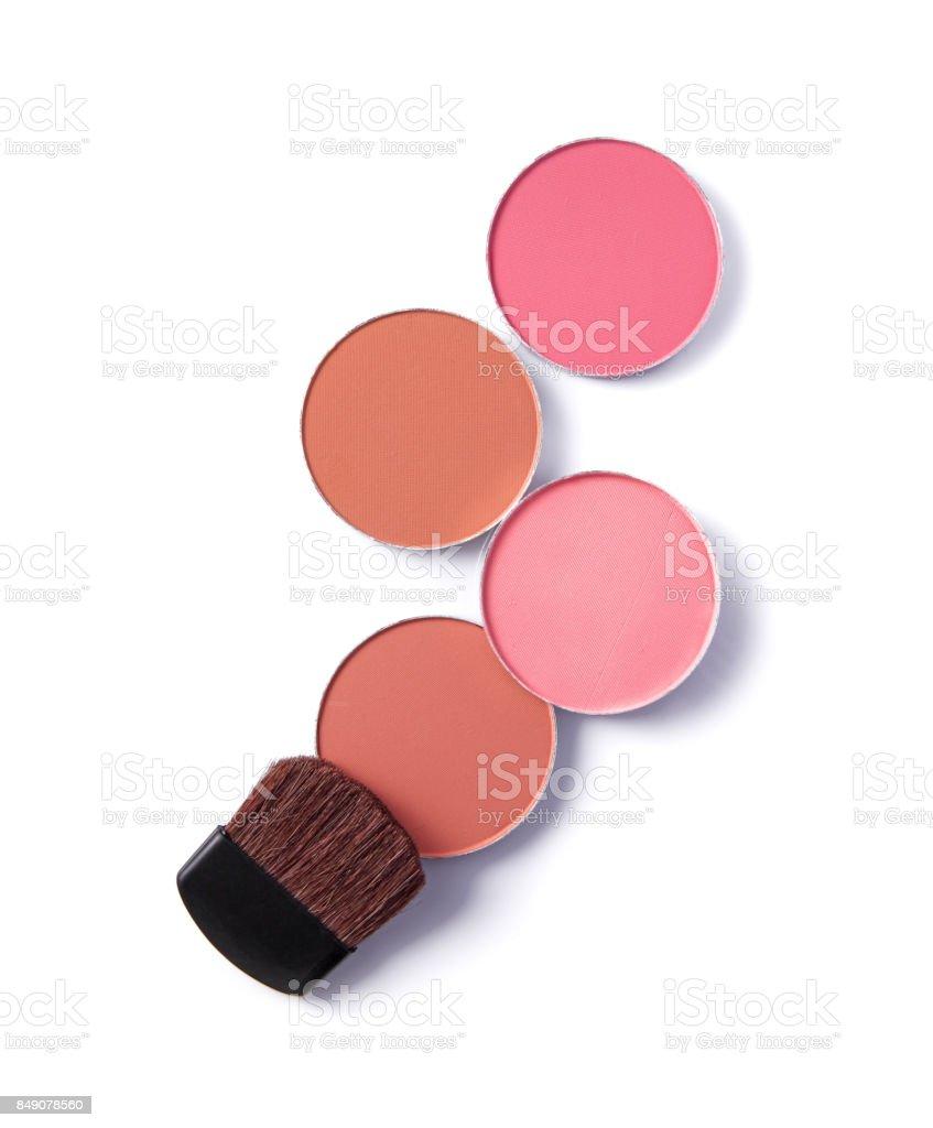 Blush or face powder isolated on white stock photo