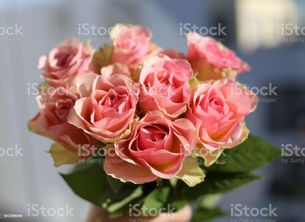 Bouquet rosa Blush rosa - foto de stock