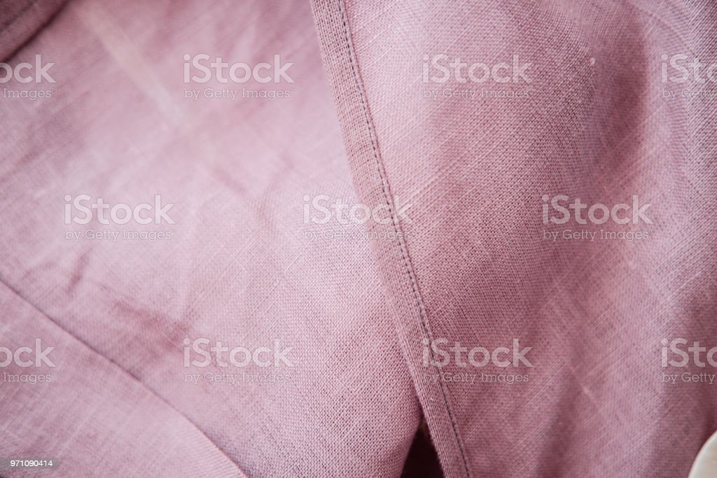Blush Pink Soft Linen Fabric Stock Photo & More Pictures of