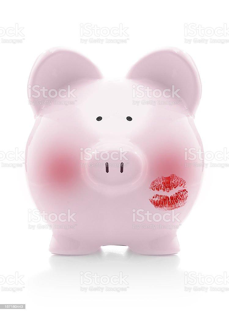 blushing piggybank royalty-free stock photo