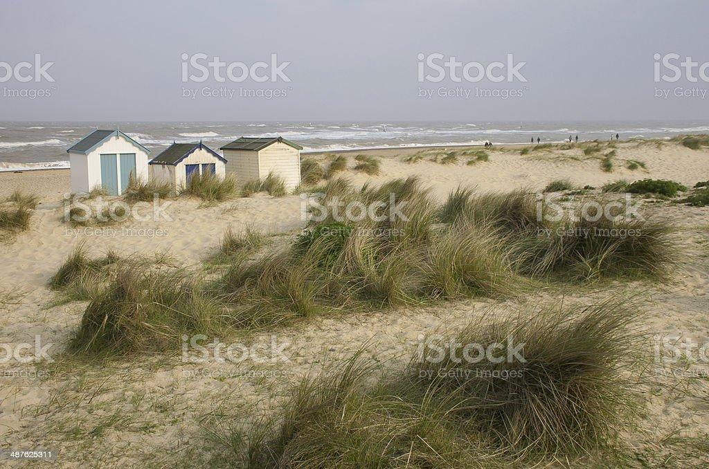 Blustery Southwold stock photo