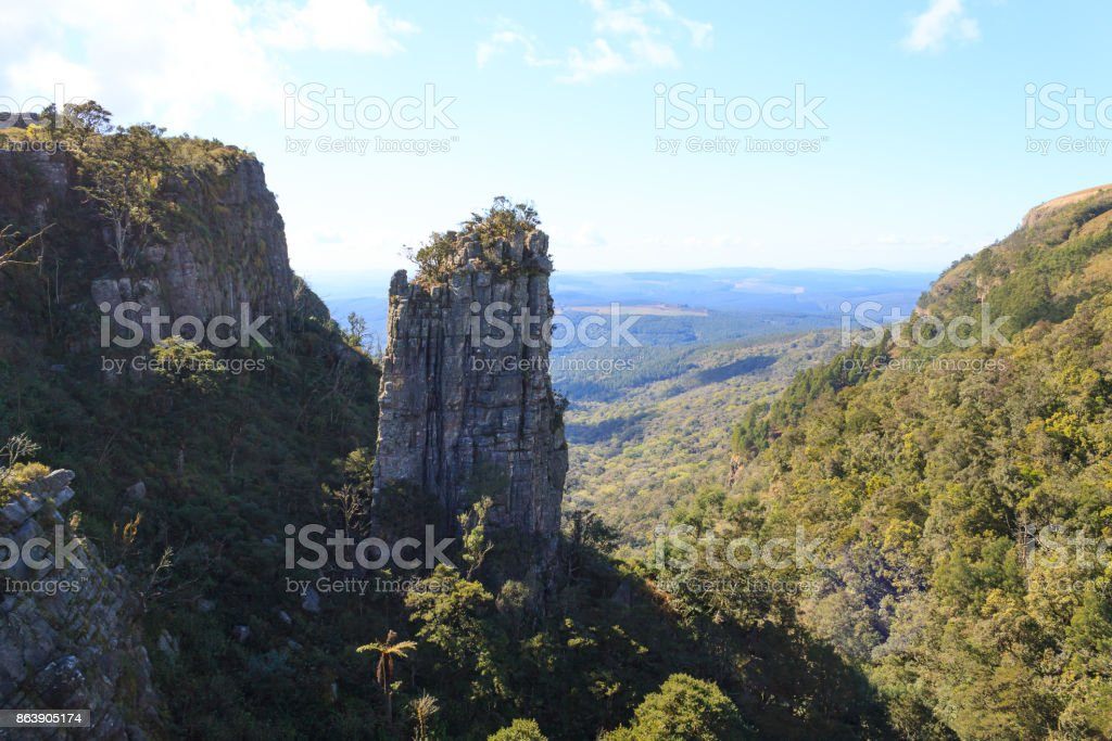 Blyde River Canyon panorama, South Africa stock photo