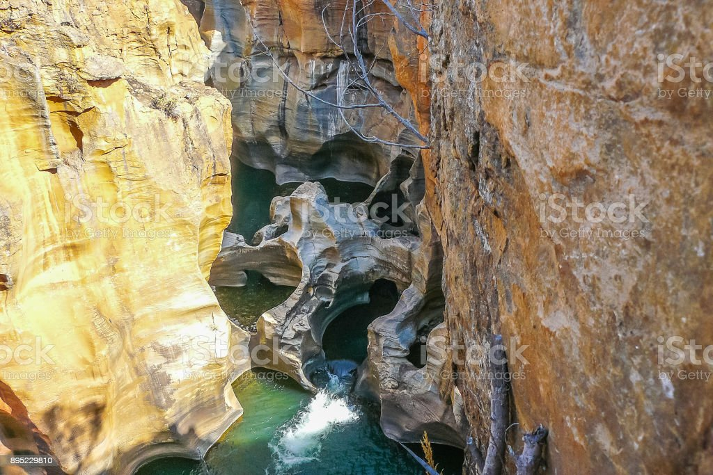 Blyde river canyon river view stock photo