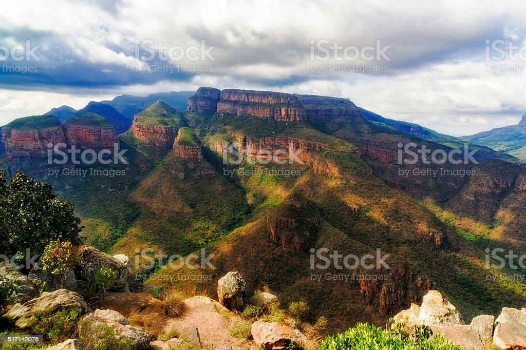 Blyde river canyon three sisters stock photo