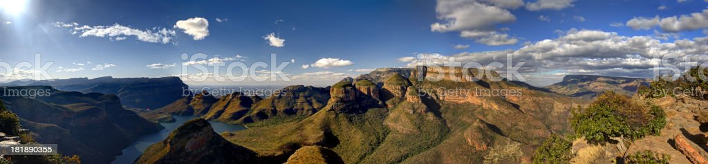 Blyde River Canyon with Three Rondavels stock photo