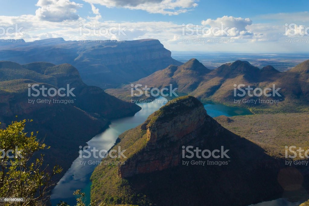 Blyde river lake, South Africa stock photo