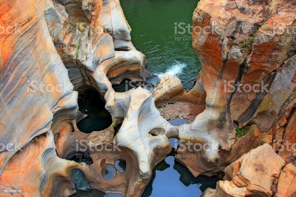 Blyde river pot holes in Mpumalanga, SA. My version. stock photo