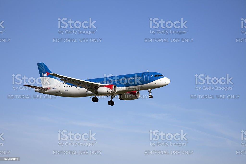 bmi British Midland Airbus A320 stock photo