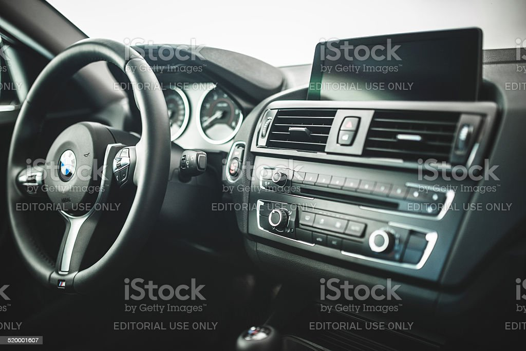 Bmw Steering Wheel Of The New 2 Series Coupe Stock Photo ... - photo#23