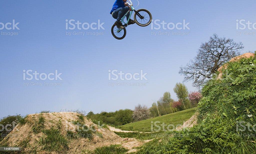 bmx dirt jumper stock photo
