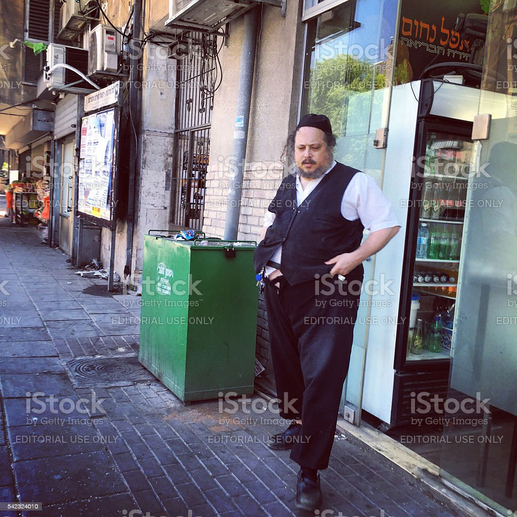 Bnei Brak streets, Israel stock photo