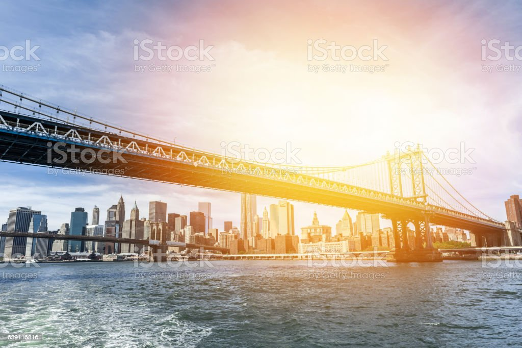 BNew York Skyline in the sunset – Foto