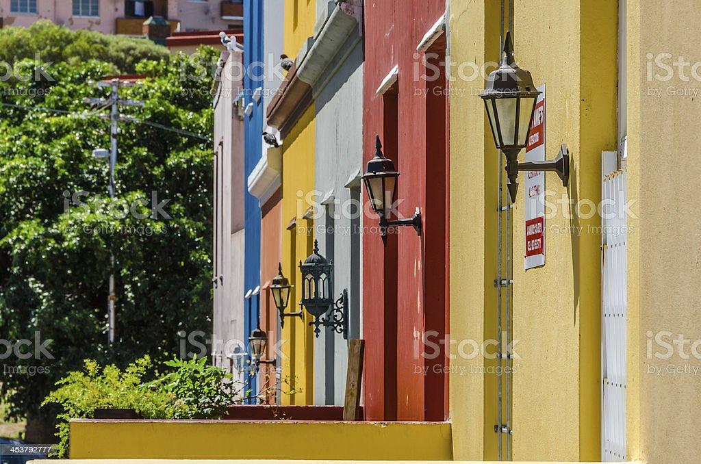 Bo Kaap, Cape Town Street stock photo