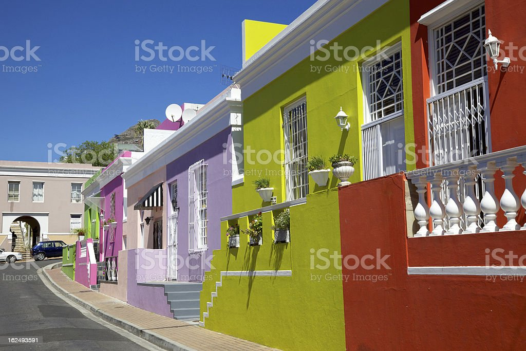 Bo Kaap Cottages stock photo